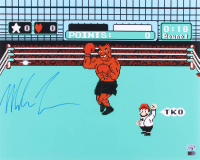 """Mike Tyson Signed """"Punch Out"""" 16x20 Photo (Fiterman Hologram & AIV COA)"""