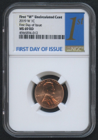 2019-W 1¢ Lincoln Cent - First Day of Issue (NGC MS 69 RD)