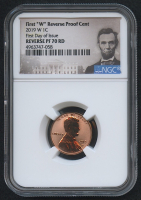 2019-W 1¢ Lincoln Cent - Reverse Proof - First Day of Issue (NGC Reverse PF 70 RD)