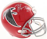 "Tony Gonzalez Signed Atlanta Falcons Throwback Full-Size Helmet Inscribed ""HOF 19"" (Beckett COA)"