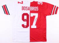 Joey Bosa & Nick Bosa Signed Ohio State Buckeyes Home / Away Split Jersey (JSA COA)