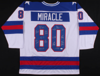 """1980 Team USA """"Miracle On Ice"""" Jersey Team-Signed by (15) Including Jim Craig, Mike Eruzione, Jack O'Callahan, Buzz Schneider (JSA COA)"""