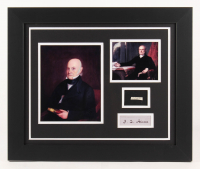 John Quincy Adams 19.5x23.5 Custom Framed Display with (1) Hand-Written Word From Letter (JSA LOA Copy)