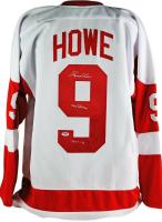"""Gordie Howe Signed Detroit Red Wings Jersey Inscribed """"Mr. Hockey"""" & """"HOF 72"""" (PSA COA)"""