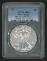 2011 American Silver Eagle $1 One-Dollar Coin - 25th Anniversary Set (PCGS MS69)