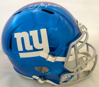 Lawrence Taylor Signed New York Giants Full-Size Chrome Speed Helmet (JSA COA) at PristineAuction.com