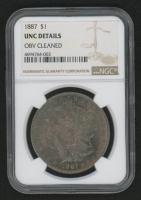 1887 Morgan Silver Dollar (NGC UNC Details)