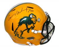 Carson Wentz Signed North Dakota State Bison Full-Size Speed Helmet (Fanatics Hologram)