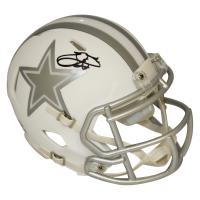 Emmitt Smith Signed Dallas Cowboys White ICE Speed Mini-Helmet (PSA COA & Prova COA)