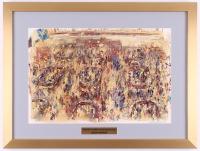 "LeRoy Neiman ""The New York Stock Exchange"" 18.5x24.5 Custom Framed Print Display"