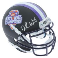 Deshaun Watson Signed Clemson Tigers 2016 National Champions Matte Black Mini-Helmet (Beckett COA)