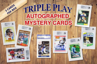 Triple Play Legends Autographed Sports Card Mystery Box - Series 1 (3 Signed & Encapsulated Cards In Every Box)