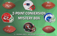 Schwartz Sports 2-Pt Conversion Full Size Football / Mini Helmet Signed Mystery Box - Series 3 (Limited to 100) (Pristine Exclusive Edition)