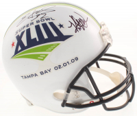 Kurt Warner & Edgerrin James Signed Super Bowl XLIII Full Size Helmet (PSA COA)