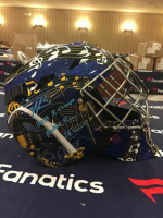 "Jordan Binnington Signed St. Louis Blues LE Full Size Goalie Mask Inscribed ""2019 SC Champs"" & ""Rookie Rec 16 Wins"" (Fanatics Hologram) at PristineAuction.com"