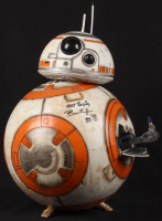 """Brian Herring Signed Disney """"Star Wars: The Force Awakens"""" Big-Figs Deluxe 18"""" Custom Hand-Painted BB-8 Figure Inscribed """"Keep Rolling"""" & """"BB-8"""" with Hand-Drawn BB-8 Sketch - 1/1 (PA COA)"""