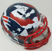 "Tom Brady Signed New England Patriots Limited Edition ""Swedish Camp"" Full-Size Authentic On-Field Helmet with Visor (Tristar Hologram & Steiner Hologram)"