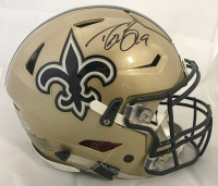 Drew Brees Signed New Orleans Saints Full-Size Authentic On-Field Speedflex Helmet (Beckett COA) at PristineAuction.com