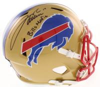 """Josh Allen Signed Buffalo Bills Full-Size Speed Helmet Inscribed """"Bills Mafia"""" (Beckett COA)"""