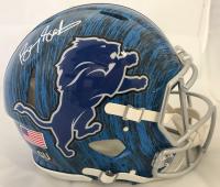 Barry Sanders Signed Detroit Lions Full-Size Authentic On-Field Hydro Dipped Speed Helmet (Beckett COA & Schwartz Hologram)