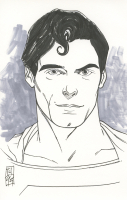 """Tom Hodges - Superman - Christopher Reeve - DC Comics - Signed ORIGINAL 5.5"""" x 8.5"""" Color Drawing on Paper (1/1) at PristineAuction.com"""