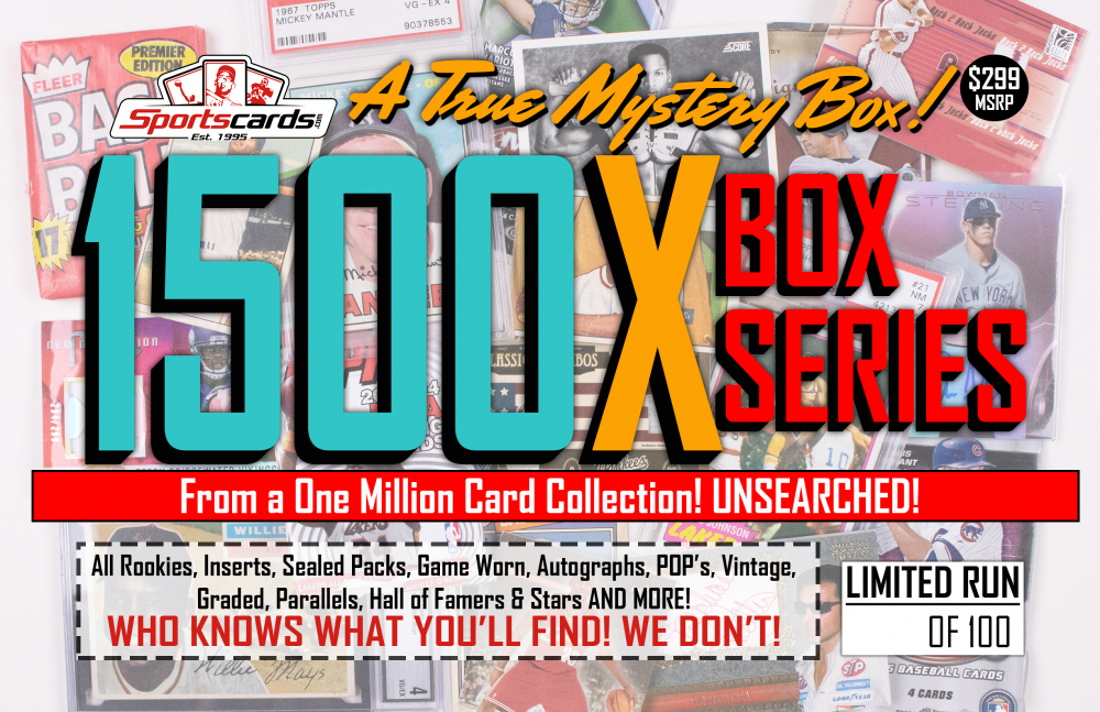 """MYSTERY 1500X SERIES"" A True Sports Card Mystery Box! at PristineAuction.com"