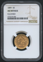 1899 $5 Five Dollars Liberty Head Half Eagle Gold Coin (NGC AU Details)