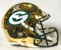 Sterling Sharpe Signed Green Bay Packers Full-Size Chrome Speed Helmet (Beckett COA)