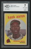 1959 Topps #380 Hank Aaron (BCCG 7)