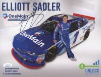 Elliott Sadler Signed NASCAR 8x10 Photo (JSA COA)