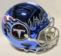 Marcis Mariota Signed Tennessee Titans Full-Size Chrome Speed Helmet (Beckett COA)