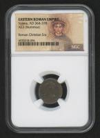 Roman Christian Era - Emperor Valens AD 364-378 Ancient Bronze Coin - Portrait Label (NGC Certified)