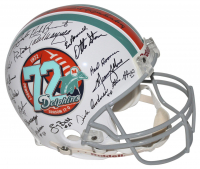 LE 1972 Miami Dolphins Throwback Full-Size Authentic On-Field Helmet Team-Signed by (40) with Bob Griese, Dick Anderson, Bob Heinz, Charlie Babb (Mounted Memories Hologram)