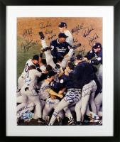 1998 New York Yankees 21x26 Custom Framed Photo Display Signed by (21) with Derek Jeter, Joe Torre, Mariano Rivera (Beckett LOA)