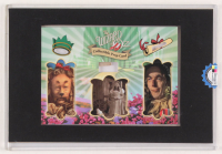 """Wizard of Oz"" Prop Card Display With Piece of Wagon Wheel, Straw From Scarecrow & Hair From Lion (Odyssey COA) at PristineAuction.com"