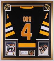 Bobby Orr Signed Boston Bruins 32x36 Custom Framed Cut Display (PSA COA)