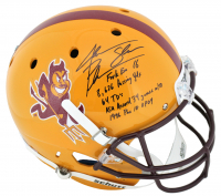 Jake Plummer Signed Arizona State Sun Devils Full-Size Helmet With Multiple Career Stat Inscriptions (Beckett COA) at PristineAuction.com