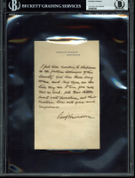 Benjamin Harrison Signed Handwritten Letter (BGS Encapsulated)