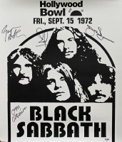 Black Sabbath Signed 18x20 Concert Poster with Ozzy Osbourne, Geezer Butler, Bill Ward, & Tony Iommi (PSA COA)