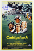"Chevy Chase, Cindy Morgan, & Michael O'Keefe Signed ""Caddyshack"" 12x18 Movie Poster Inscribed ""Noonan"" & ""Lacey"" (Beckett COA)"