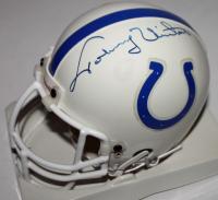 Johnny Unitas Signed Baltimore Colts Mini Helmet (Beckett LOA)