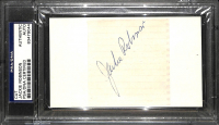 Jackie Robinson Signed 2.75x3 Cut (PSA Encapsulated)