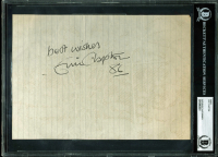"Eric Clapton Signed 7x10 Cut Inscribed ""Best Wishes"" & ""86"" (BAS Encapsulated & REAL LOA)"
