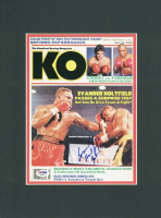Evander Holyfield Signed 12x16 Custom Matted KO Magazine Display (PSA COA)