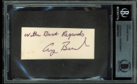 "George H. W. Bush Signed 1.25x2.75 Cut Inscribed ""With Best Regards"" (BAS Encapsulated)"