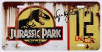 "Wayne Knight Signed ""Jurassic Park"" #12 Jeep License Plate - Movie Prop Replica (PA COA)"