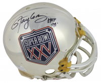 """Lawrence Taylor Signed Super Bowl XXV Chrome Full-Size Authentic On-Field Helmet Inscribed """"HOF 99"""" (Beckett COA)"""