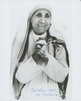 "Mother Teresa Signed 8x10 Photo Inscribed ""God Bless You"" (JSA ALOA)"