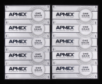 Lot of (10) One Gram .999 Fine Silver Foil Notes