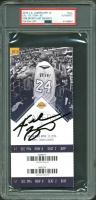 Kobe Bryant Signed 2016 Los Angeles Lakers Game Ticket Stub (PSA Encapsulated & Panini COA)